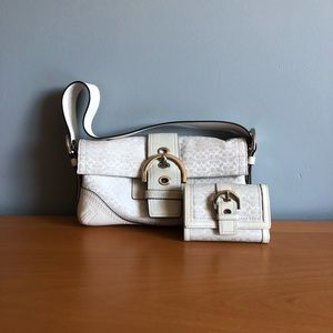 2-Piece matching Coach purse and wallet set